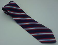 """Brooks Brothers Navy/Red/Light Blue/White Striped Tie XL 3.75""""  64"""" USA"""