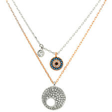Swarovski Crystal Wishes Evil Eye Pendant Set Blue - 5272243