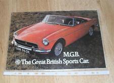 MG MGB Roadster Brochure 1972 Chrome Bumper Model