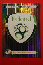 Panini EURO 2012 N. 340 IRELAND BADGE NEW With BLACK BACK TOPMINT!!