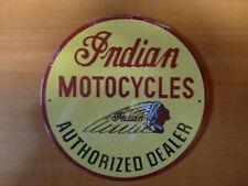 PB51 PLAQUES PUB tolée age d'or de l'Automobile n°69 21cm ronde INDIAN moto