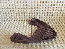 LEGO ® 1 x barca nave Bug/POSTERIORE 10x12x1 forma parte MARRONE SCURO * NUOVO * 47404