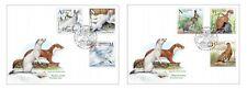 Belarus 2020 Seasonal variations wild animals: hare, weasel, partridge 2 FDC