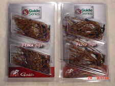 2 PACKS Jewel Bait Co G.S. J-Lock 1/4 & 3/8 oz Multi BASS JIGS Gamakatsu PB&J