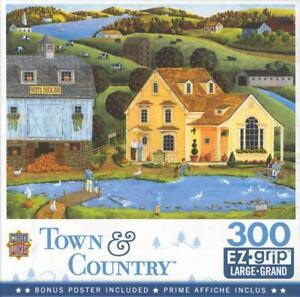 Art Poulin MasterPieces 300 Jigsaw Puzzle White Duck Inn NIB