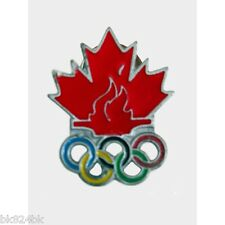 OLYMPICS Vancouver 2010 Winter Games TEAM CANADA Pin Canadian Maple Leaf Rings