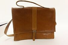 X2 TAN LEATHER BAGS SATCHEL MESSENGER BAG BROWN