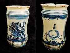 Albarello vaso da farmacia ceramica maiolica - manifattura Napoli fine '700 n.2