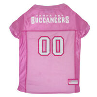 Tampa Bay Buccaneers NFL Pets First Licensed Dog Pet Mesh Pink Jersey XS-L NWT