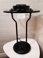 Mint Vintage CANARM Art Deco Halogen Black Desk Table Saucer Glass Lamp 80-90's