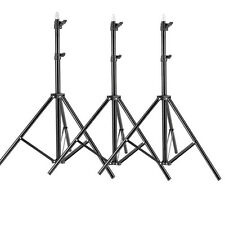 Neewer 3pcs 6ft Photography Tripod Light Stands for Studio Kits Video