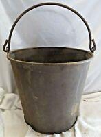 Vintage Metal Steel Bucket, Large Goat or Cow Milking Pail