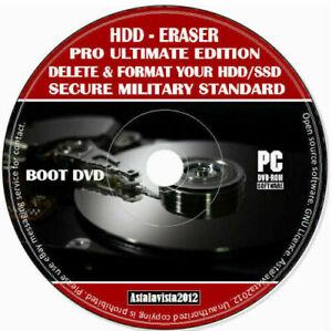 Erase Wipe Format Clean Delete Hard Drive Data Pro Eraser PC MAC LINUX