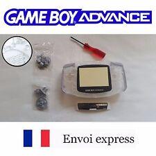 Coque GAME BOY ADVANCE transparent NEUF NEW +tournevis -étui shell case GBA