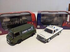 DDR Volkspolizei_Barkas B1000 Ambulance 1964 + GAZ Volga M24 1969 1/43 by IXO