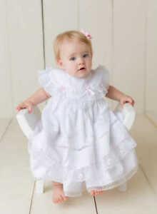 Will'beth Gorgeous Preemie Baby Girl Fancy Heirloom Portrait Dress Lace Bonnet N