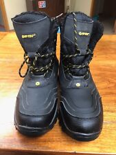 Size 10 M width Hi-Tec Snow Peak 200 WP Insulated  Winter Boots Black Waterproof