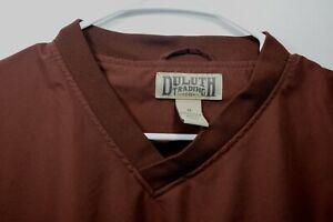 Duluth Trading Co Mens sz M Brown Light Windbreaker Pullover Pockets