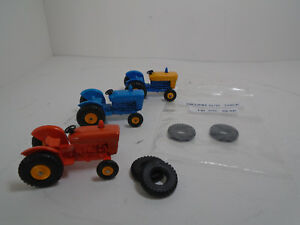 MATCHBOX 22MM O/D THICK BLK PLASTIC TIRES FIT 39C FORD FARM TRACTOR. REAR 1 PAIR