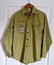 Boy Scouts of America Official Shirt-Faded/Missing Label-Long Sleeve-Green-L@@K