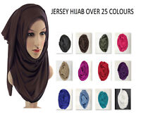 New Ladies Womens Plain JERSEY/STRETCHY Large Maxi Scarf Hijab Shawl Sarong Wrap