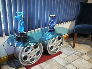 Porsche 928 custom console table, automotive art, phone dials, man cave,BLING!