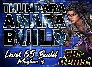 [PS4/PS5] Borderlands 3 Lv.65 ⚡ THUNDARA AMARA ⚡Build MAYHEM 10 - 50+ GOD ROLLS