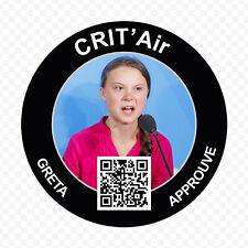 Sticker Greta Thunberg vignette CritAir