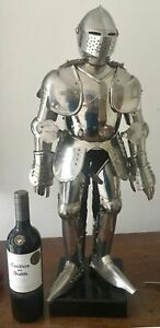 A Large Vinage Articulated Medieval Knight Suit Armour Model Late 20th Century
