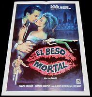 1955 Kiss Me Deadly ORIGINAL SPAIN POSTER Robert Aldrich Mataix Unique Art! 80'