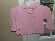 Shrimp & Grits 3T Lightweight Coat Pink Corduroy Button Up Ruffles Boutique Girl