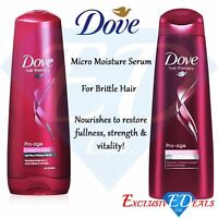 Dove Pro Age Therapy Hair Shampoo & Conditioner Care For Brittle Hair - Set of 2