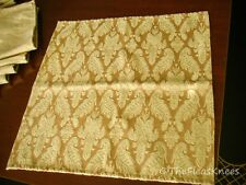 """12 Gold on Gold Tapestry 17"""" Square Napkins - Gorgeous"""