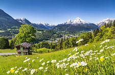 Fototapete Alpen Berchtesgaden Berge Watzmann Kleistertapete oder Selbstklebende