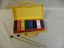 Resonator Bells 8 Colored Lettered Numbered Percussion Xylophone Case 2 Mallets
