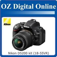 New NIKON D5200 DSLR AF-S 18-55mm VR Kit 1 Year Au Wty