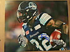 James Wilder Jr. SIGNED 8x10 photo CFL FOOTBALL TORONTO ARGONAUTS