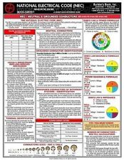 2014 NEC National Electrical Code Laminated 6 Page Quick Card New Pamphlet