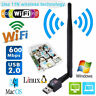 USB 2.0 600Mbps Wifi Dongle Wireless Adapter LAN Network Antenna for Laptop PC B
