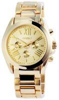 AKZENT Damenuhr Gold Chrono-Look Analog Quarz Armbanduhr X-SS8804000013