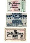 Reichsbanknoten 3 Scheine. Los 1661. schoeniger-notgeld