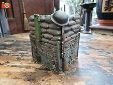 A TRENCH PEN POT / HOLDER. GREAT RECREATION WW1 TRENCH. NICE ARMY GIFT