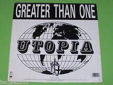 "Greater than One - Utopia x 2 - 1989 Wax Trax NEU NEW Sealed Maxi 12"""