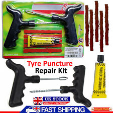 Emergency Car Van Motorcycle Tubeless Tyre Tire Puncture Repair Tool Kit Strips
