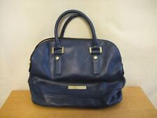 "Ladies Bowling Bag Ivanka Trump, blue faux leather, size 14x10x6""+ handles 3256"