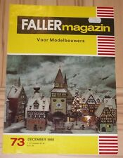 für Faller AMS ---  Faller Magazin 73, Dezember 1969, Sprache Niederländisch !