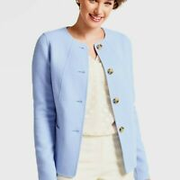 NEW $279 TALBOTS Periwinkle Blue Double Face Wool Jacket Sz 16WP,16W P
