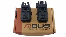 Magpul MBUS Gen 1 PTS Backup Front & Rear Fold down Flip Up Sights Black