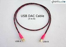 U01 (0.3m 1ft)--- USB(A to B) DAC Star Quad Silver-Plated OFC HiFi Audio Cable