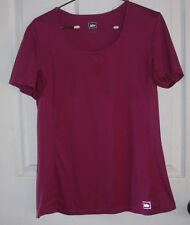 REI Shirt Medium Short Sleeve Purple Polyester Vented Arm Pits
